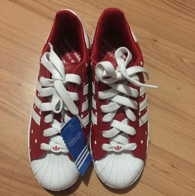 Adidas Red Love Heart Shoes
