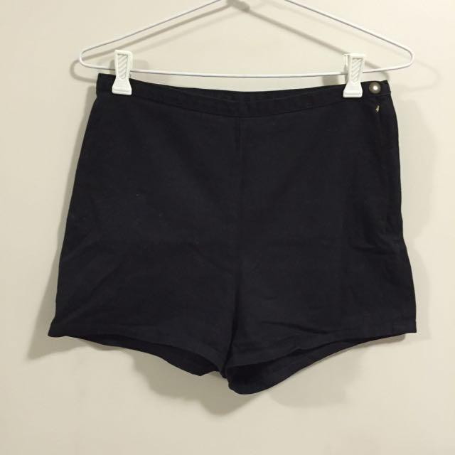 American Apparel Black Denim Short 28/29