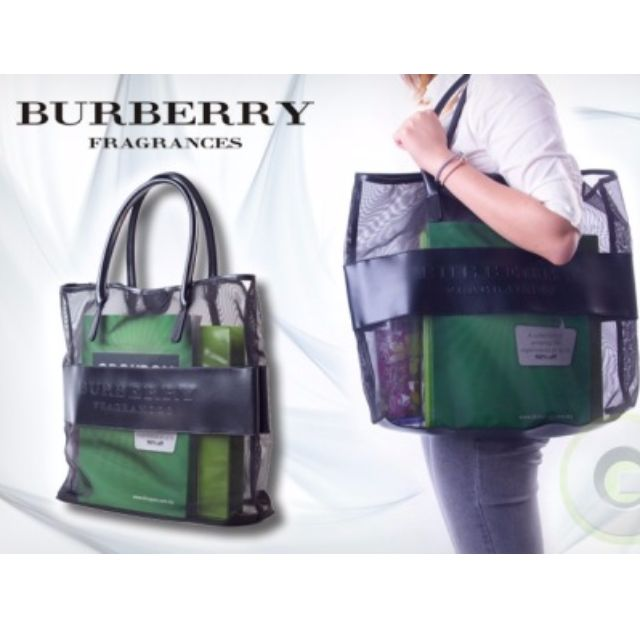 ebb2d900862a Authentic Burberry Fragrances Mesh Tote Bag