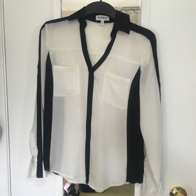 Black And Off white Portofino Shirt