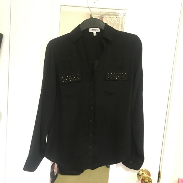Black With Studs Portofino Shirt