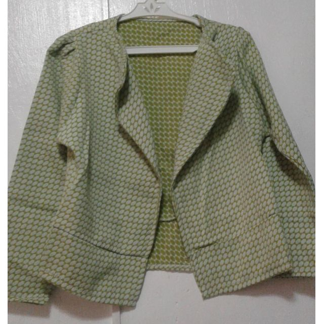 Blazer - Yellow Green Checked