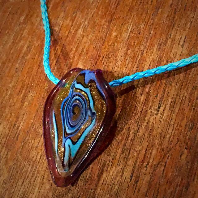 Blown Glass Pendant Necklace