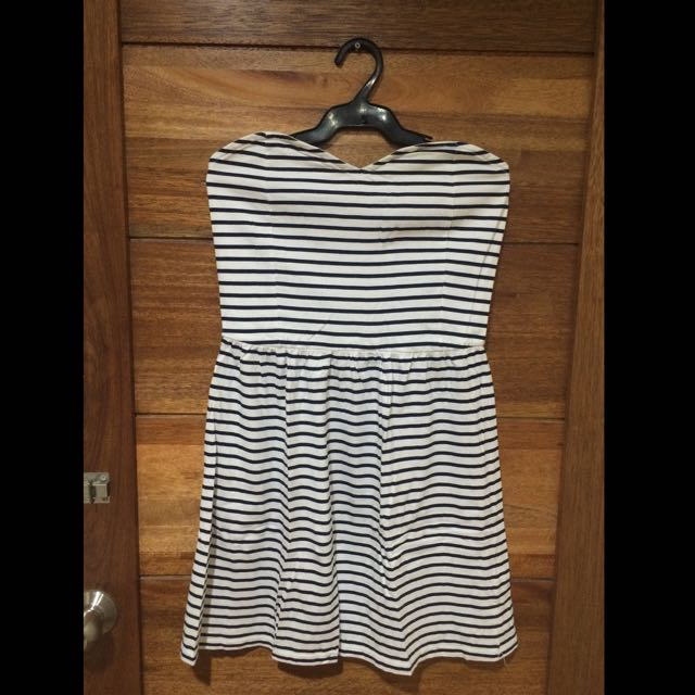 Terranova Blue Stripes Tube Dress