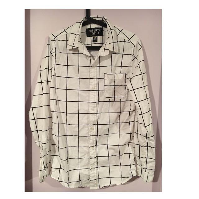B&W Grid Shirt