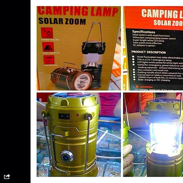 Camping Lamp( Solar And Chargeable)