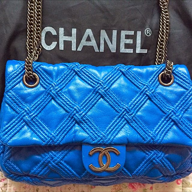 *PRICE DROP* Chanel Blue Handbag 2.55 Classic Silver Hardware