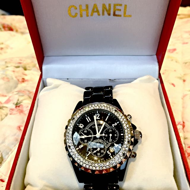 *SALE* Chanel J12 Black Diamond Watch!