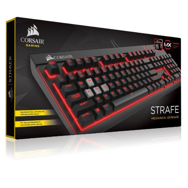 716a4c1d446 Corsair Strafe Cherry MX Red (non RGB), Toys & Games on Carousell