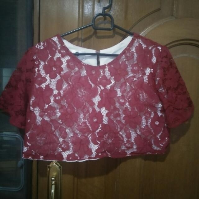 Crop Top Lace Size Xs To S