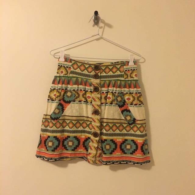 Dotti Aztec Skirt