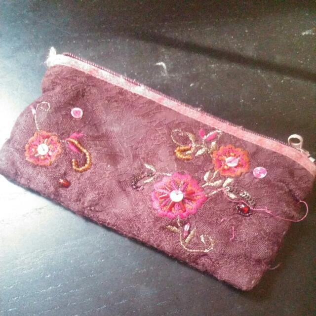 Embroided Pouch By Accessorize