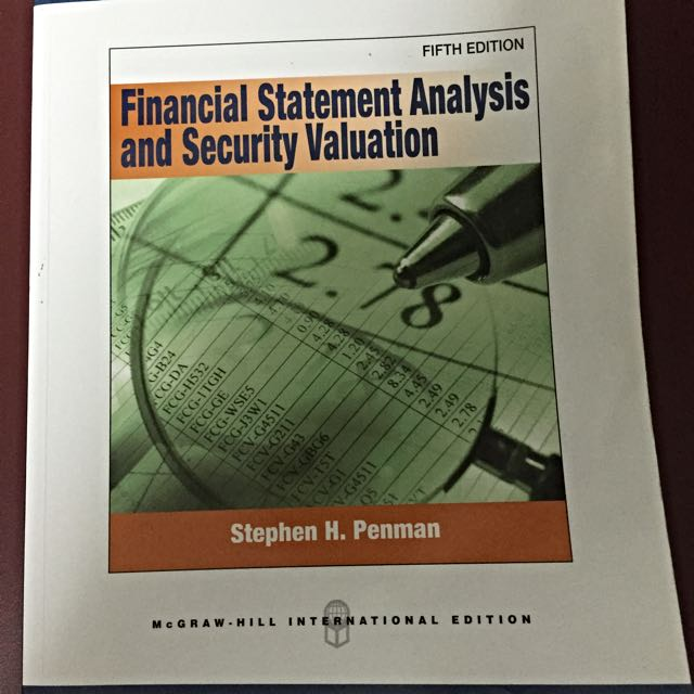 financial statement analysis and security valuation 5th edition
