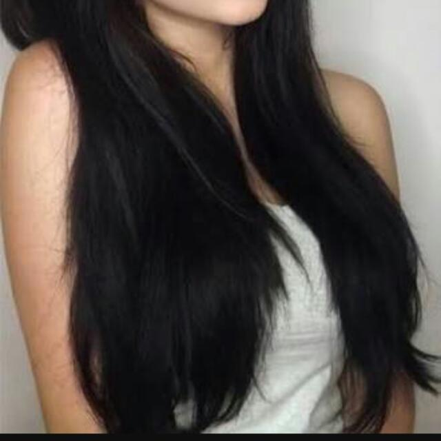 Full Head Of Russian Black Hair Extensions 22 Inch