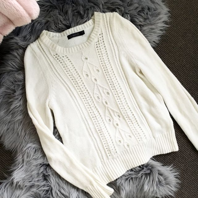 GLASSONS White Jumper Size 8