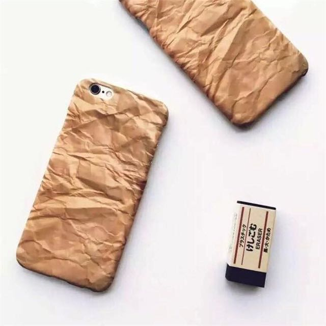 iPhone/水貼牛皮紙折痕硬殼
