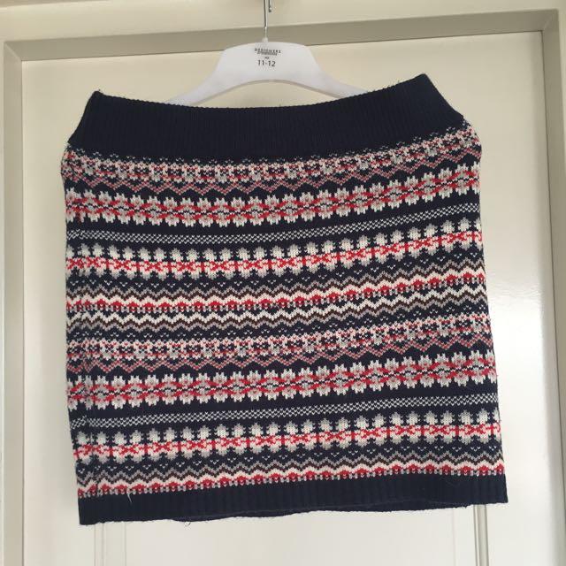 Knitted Aztec Skirt