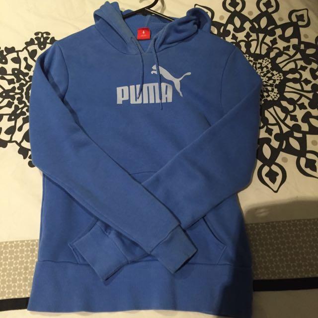 Ladies Blue Puma Hoodie Xs