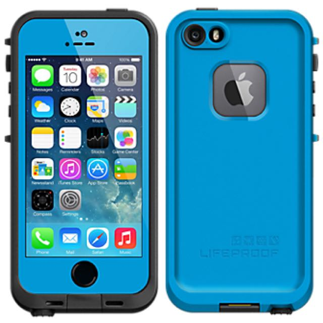 LifeProof Fre Case iPhone 5/5S Blue. Used In Good Condition. $50 AUD