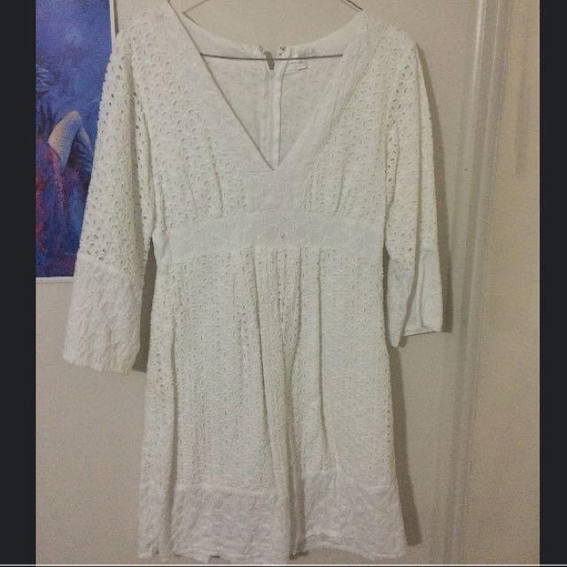 Minkpink White Boho Style Dress