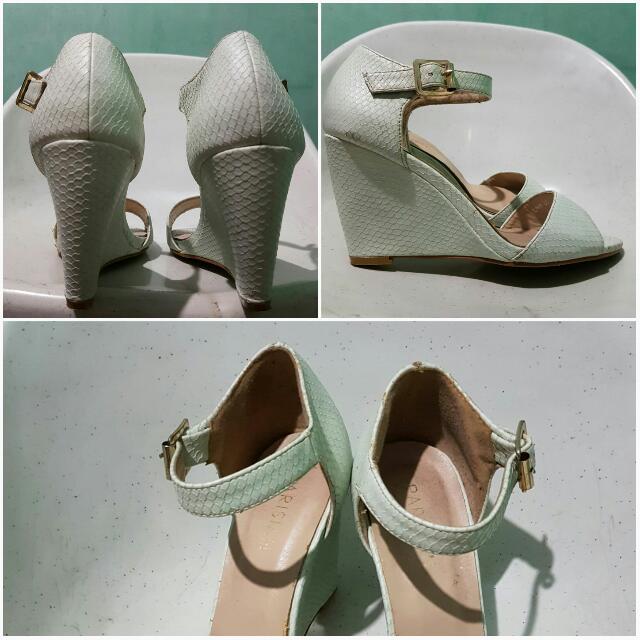 PARISIAN mint sandals