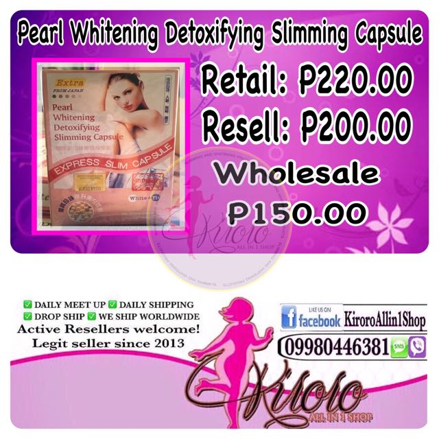 Pearl Whitening Detoxifying Slimming Capsule