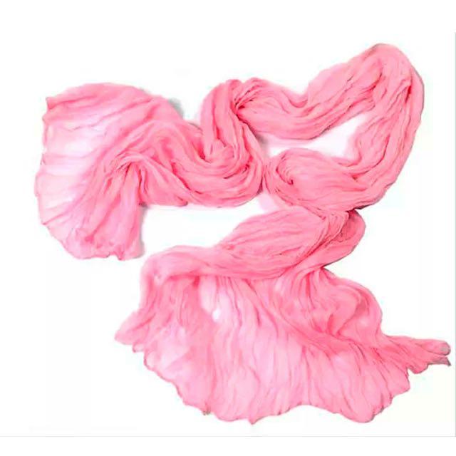 Pink Chiffon Soft Scarf