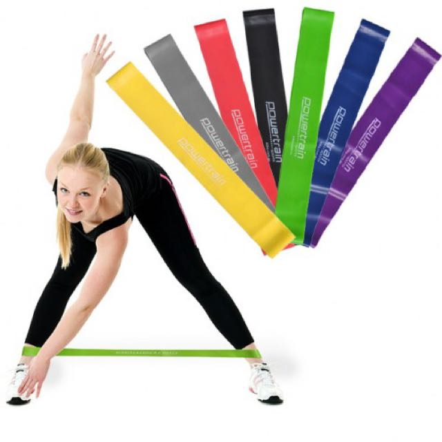 Powertrain Yoga/Pilates Resistance Bands. Never used. $2 AUD each