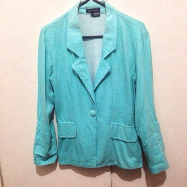 Tiffany Blue Blazer