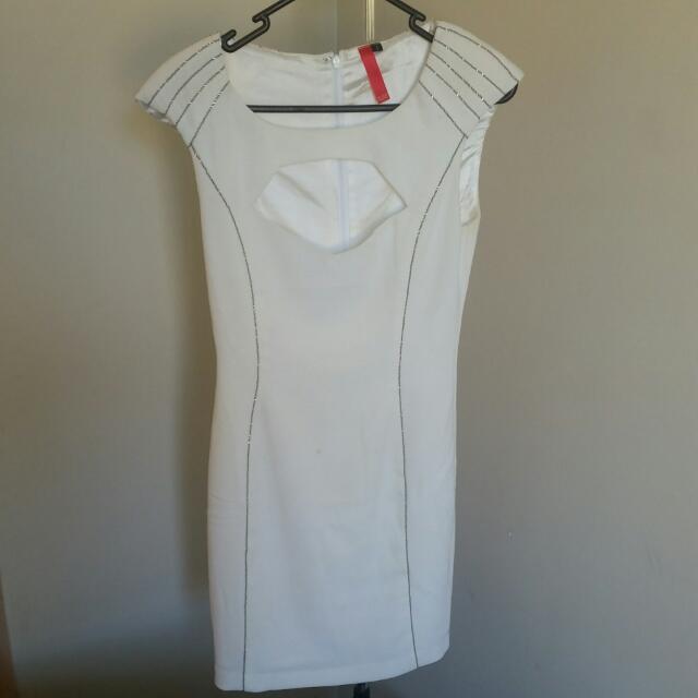 White PLUME Dress