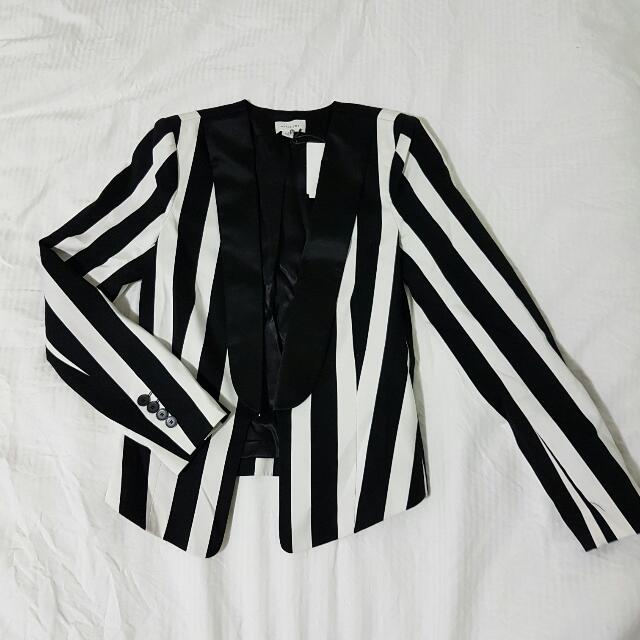 Witchery Striped Jacket Size 4
