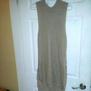 Sleeveless Knitwear Sweater Dress
