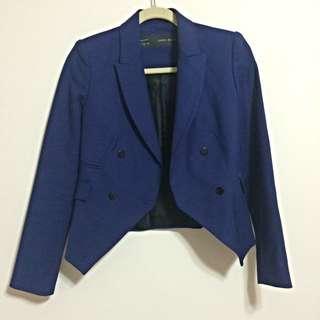 (預定)【英國帶回 Zara】寶藍色騎士西裝外套 - 全新正品