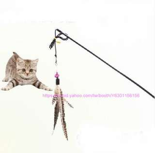 大鳥羽毛逗貓棒 // 養貓必備的玩具 逗貓棒 甩棒