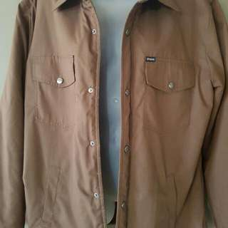 Brixton Tan Jacket Size LARGE as New