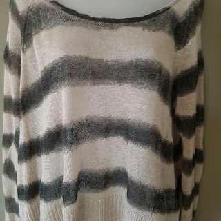 SASS & BIDE  Layered top..linen Size M