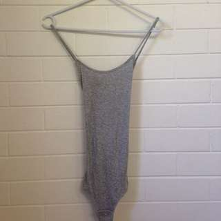 Grey Ribbed Glassons Leotard