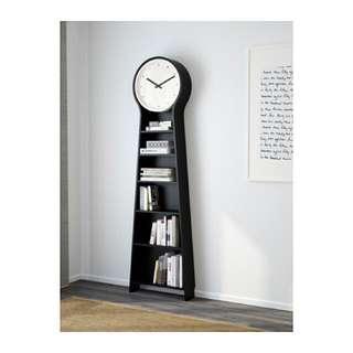 Clock Book Case