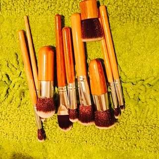 10pieces makeup brushes