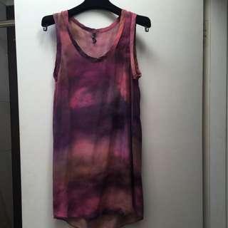 JOSH GOOT silk Screen Printed Mini Dress