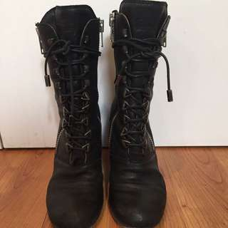 CHLOE lace Up Boots