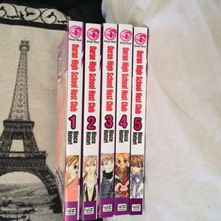 Ouran High School Host Club Manga Set 1-5