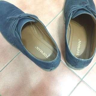 Topman 藍色 休閒牛津鞋