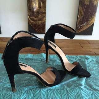 Sexy Black Heels, Size 39