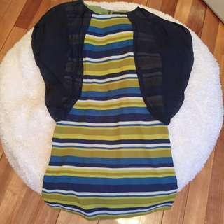 Sale‼️Summer Dress With Silk Blue Sleeves