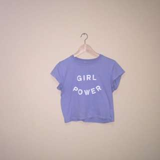 Brandy Melville Girl Power Crop Top