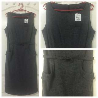 Sheath dark gray dress (Apple & Eve)