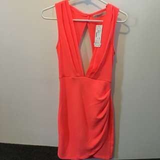 Coral Party Dress Size 6
