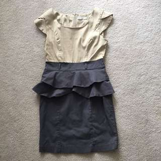 Paper Scissors Peplum Dress