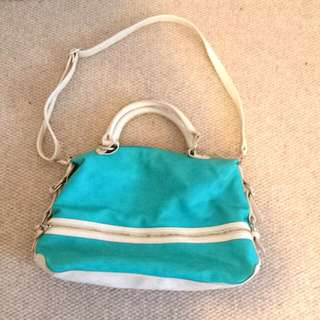 Blue And White Collette handbag